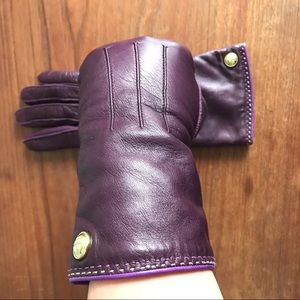 Coach Leather + Cashmere Gloves